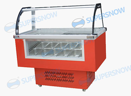 12 tray /pan Ice Cream Display Freezer