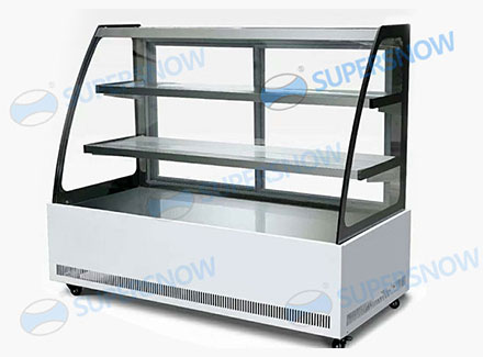 Static Cooling Cold Plate Showcase for Cold Dish Display